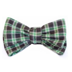 ZB Savoy Green & Black Plaid Bow Tie